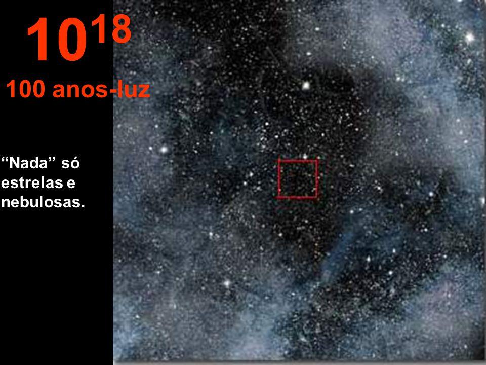 Aqui só vemos estrelas e o infinito. 10 17 10 anos-luz