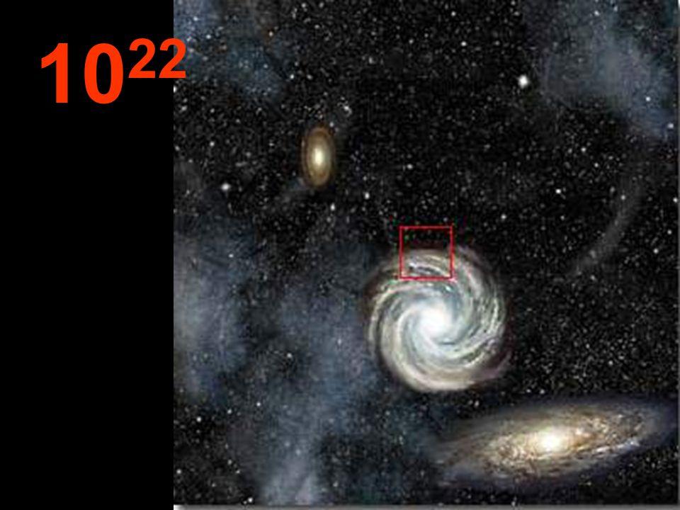 """Desta tremenda distância desde a origem, as galáxias parecem pequenos aglomerados e, entre elas, imensos """"espaços vazios"""". Por toda parte, a mesma lei"""