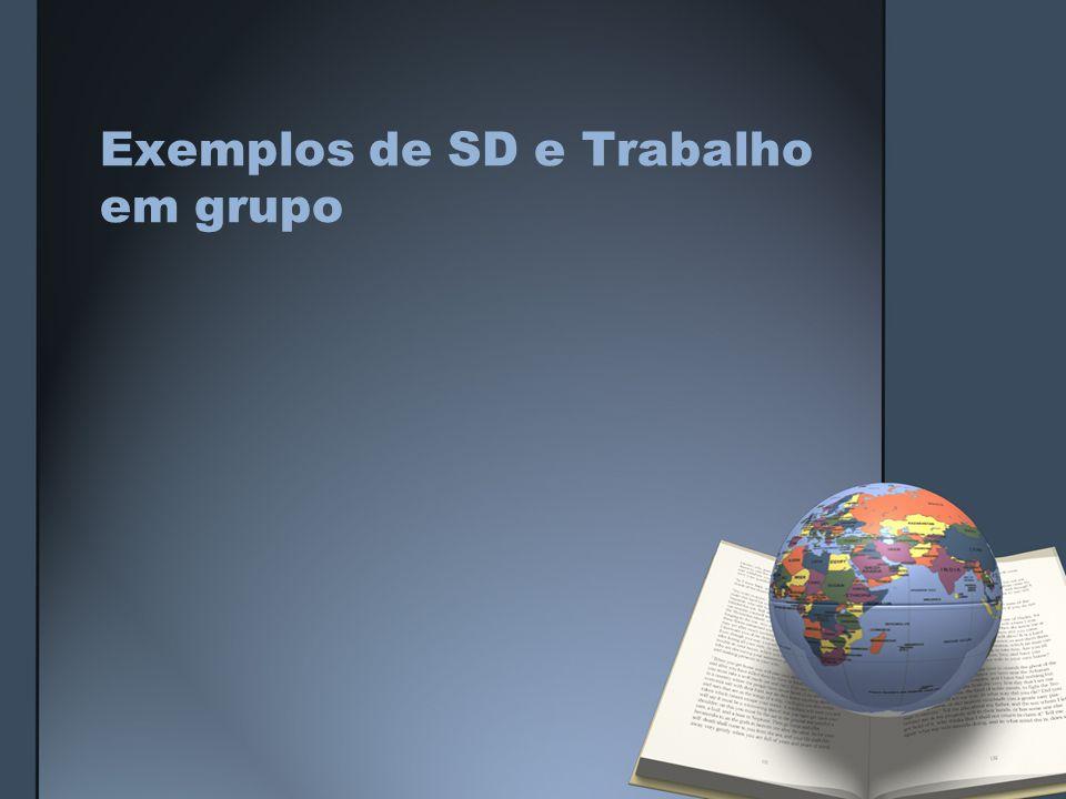 Exemplos de SD e Trabalho em grupo