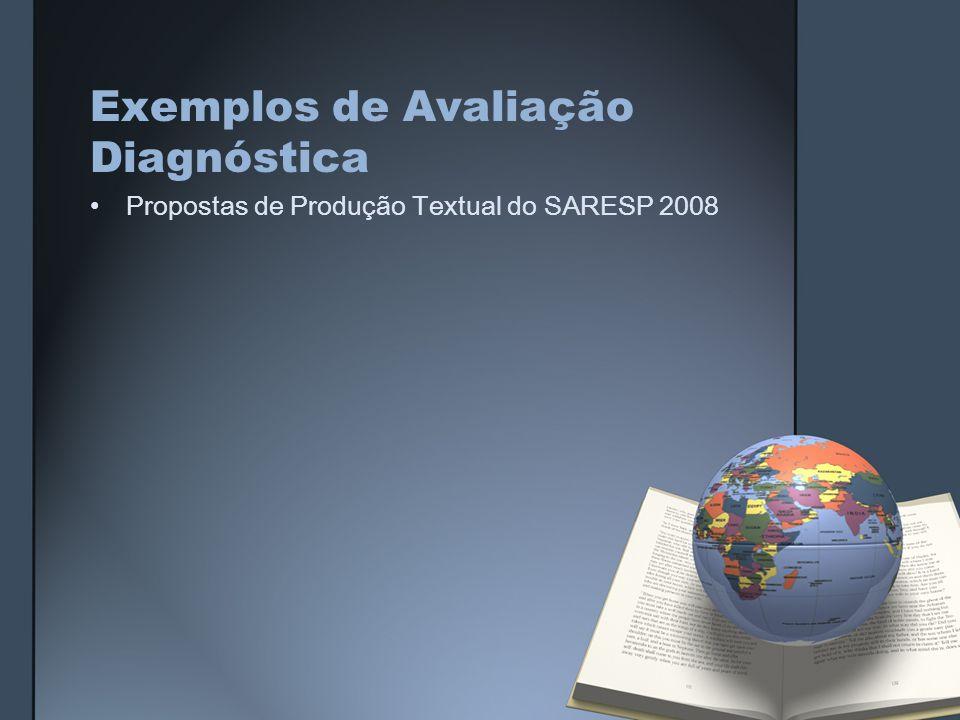Exemplos de Avaliação Diagnóstica Propostas de Produção Textual do SARESP 2008