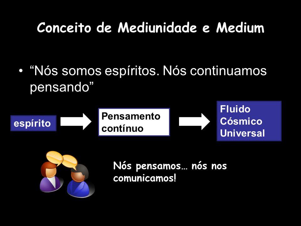 Conceito de Mediunidade e Medium Nós somos espíritos.