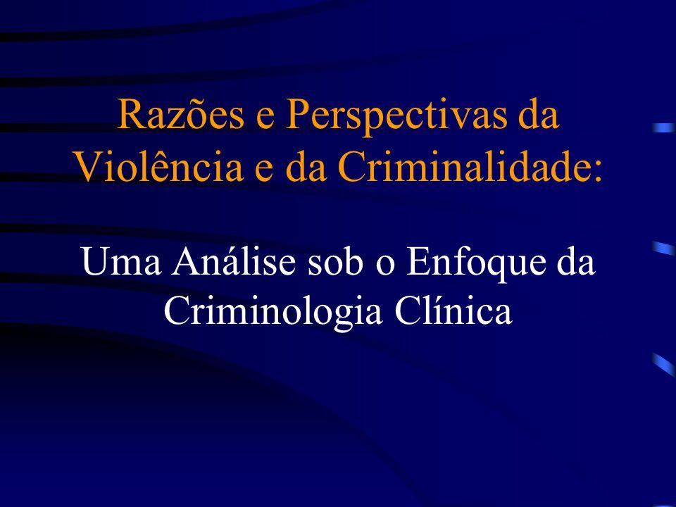 Razões e Perspectivas da Violência e da Criminalidade: Uma Análise sob o Enfoque da Criminologia Clínica