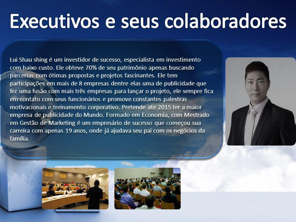 Lui Shau shing é um investidor de sucesso, especialista em investimento com baixo custo. Ele obteve 70% de seu patrimônio apenas buscando parcerias co