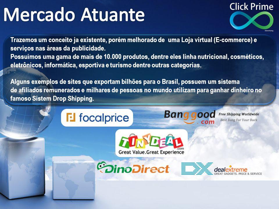Trazemos um conceito ja existente, porém melhorado de uma Loja virtual (E-commerce) e serviços nas áreas da publicidade. Possuímos uma gama de mais de