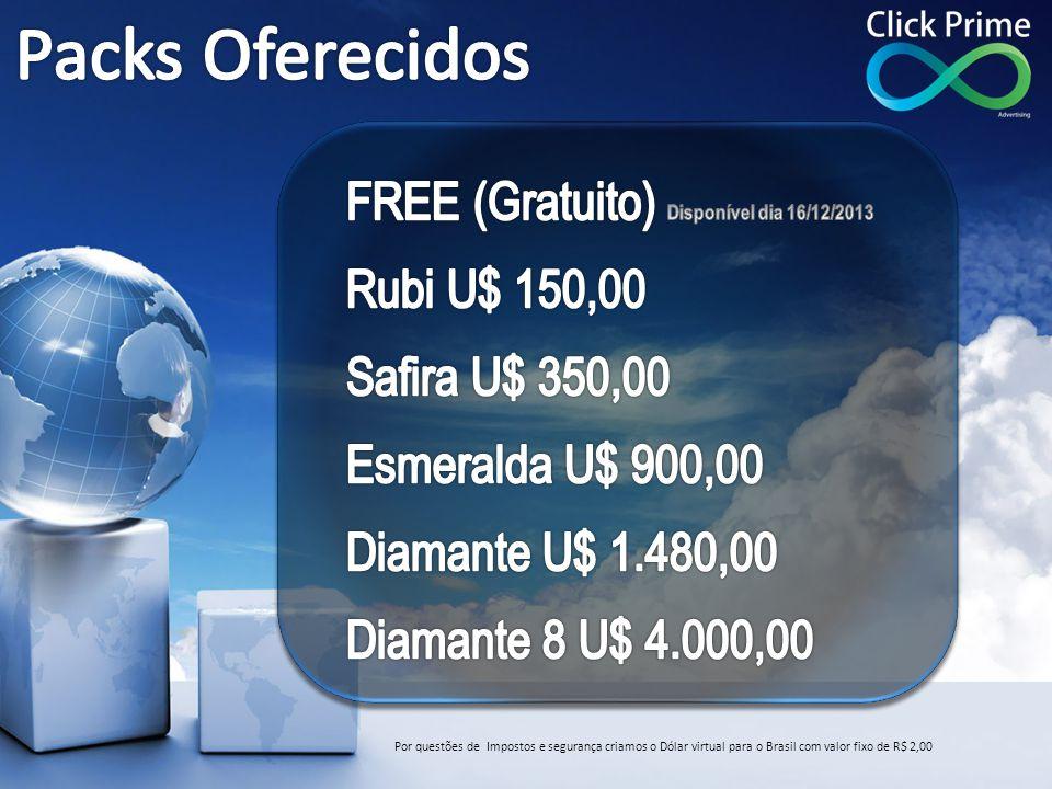 Por questões de Impostos e segurança criamos o Dólar virtual para o Brasil com valor fixo de R$ 2,00