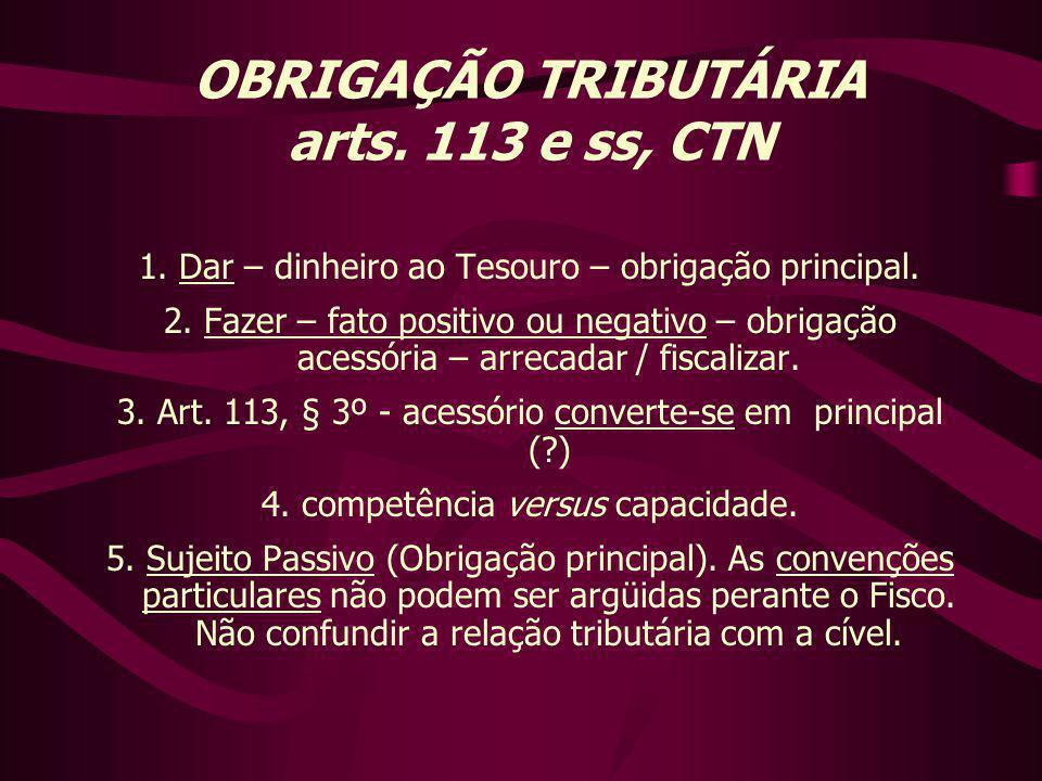 1.Dar – dinheiro ao Tesouro – obrigação principal.