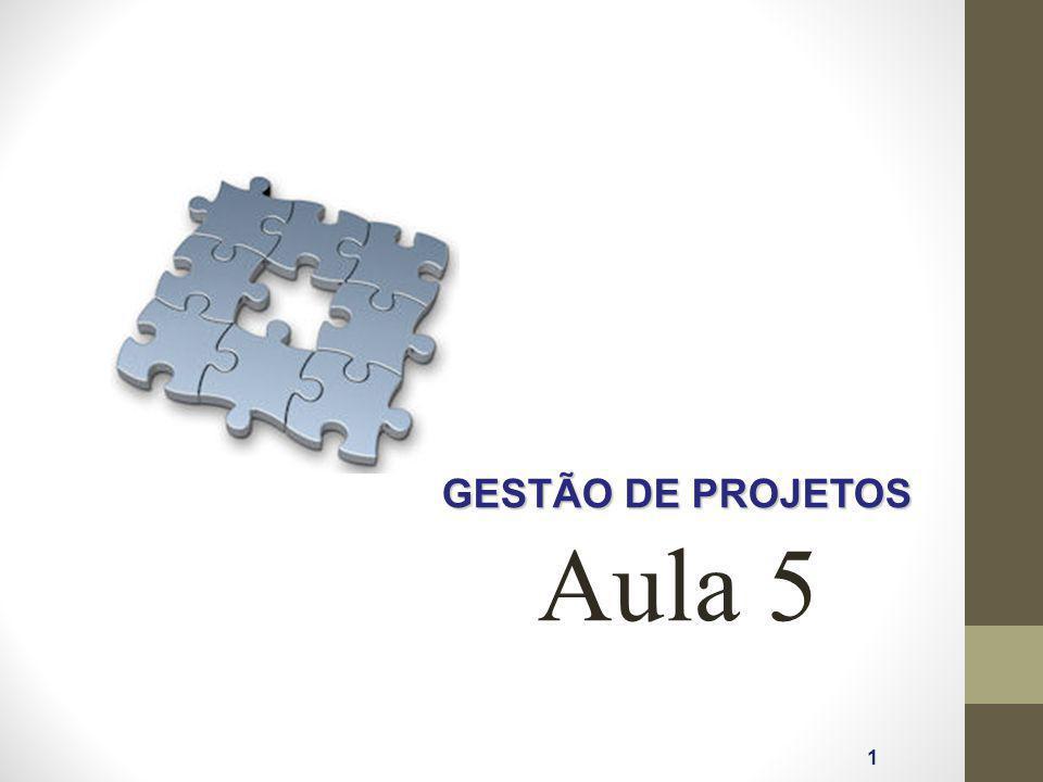 GESTÃO DE PROJETOS 1 Aula 5
