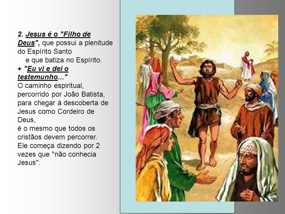 2.Jesus é o Filho de Deus , que possui a plenitude do Espírito Santo e que batiza no Espírito.