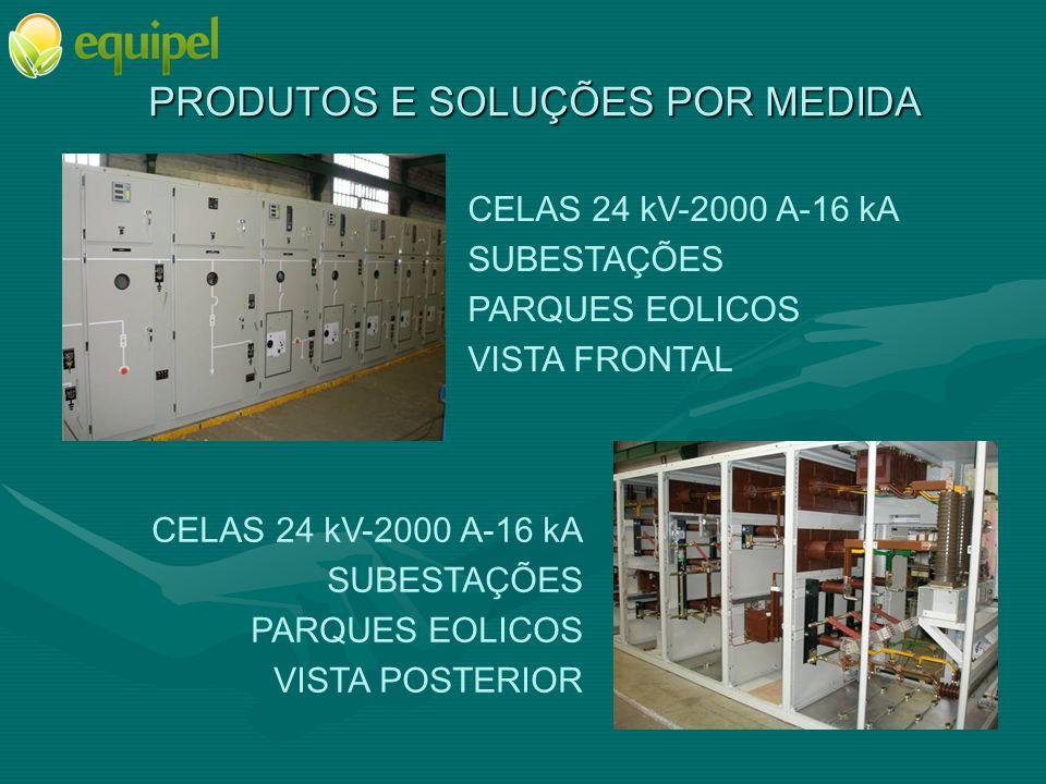 PRODUTOS E SOLUÇÕES POR MEDIDA CELAS 36 kV-1250 A-25 kA AMOVÍVEIS E COMPARTIMENTADAS CLIENTE PARTICULAR VISTA FRONTAL CELAS 36 kV-1250 A-25 kA AMOVÍVEIS E COMPARTIMENTADAS CLIENTE PARTICULAR VISTA INTERIOR