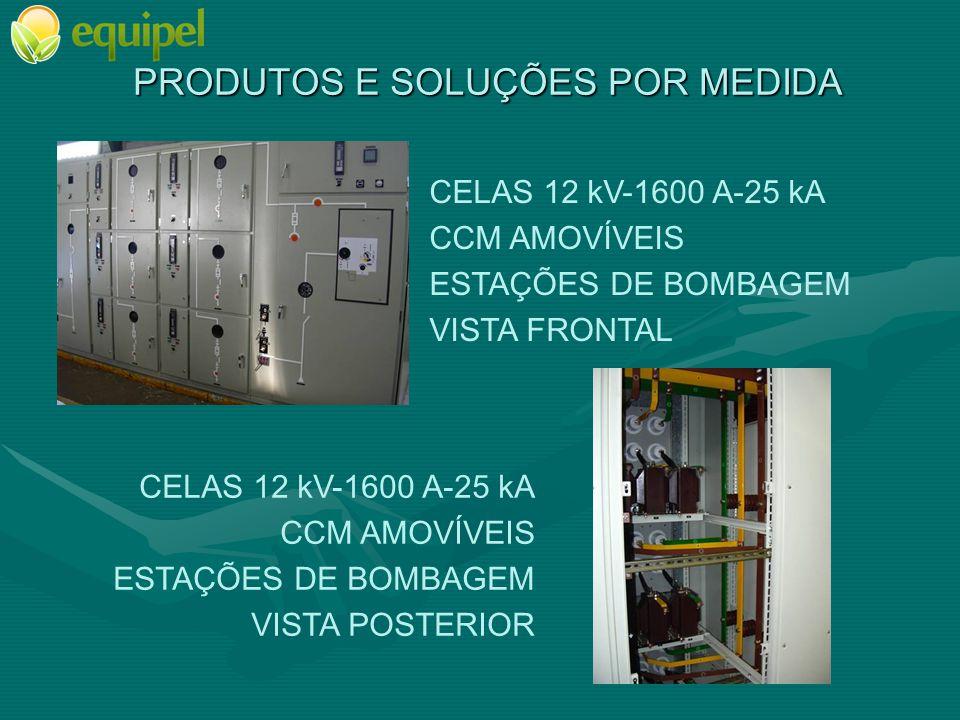 PRODUTOS E SOLUÇÕES POR MEDIDA CELAS 17,5 kV-2500 A-31,5 kA NEUTRO COM RESISTÊNCIA EXCITAÇÕES VISTA FRONTAL CELAS 17,5 kV-2500 A-31,5 kA NEUTRO CON RESISTÊNCIA EXCITAÇÕES VISTA POSTERIOR