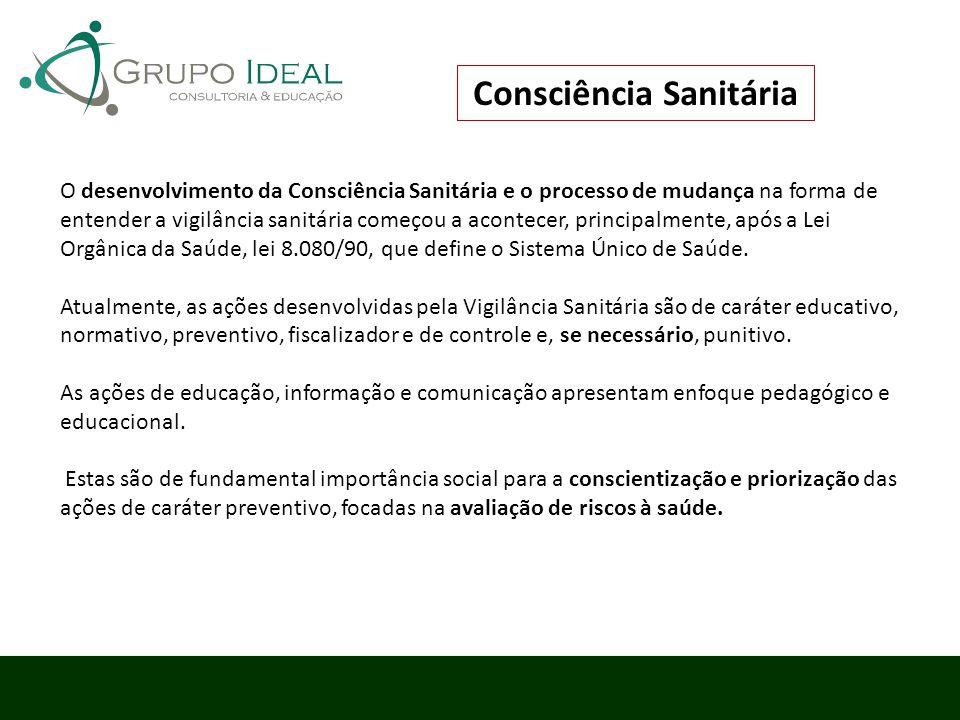 O desenvolvimento da Consciência Sanitária e o processo de mudança na forma de entender a vigilância sanitária começou a acontecer, principalmente, ap