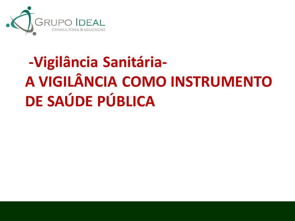 -Vigilância Sanitária- A VIGILÂNCIA COMO INSTRUMENTO DE SAÚDE PÚBLICA