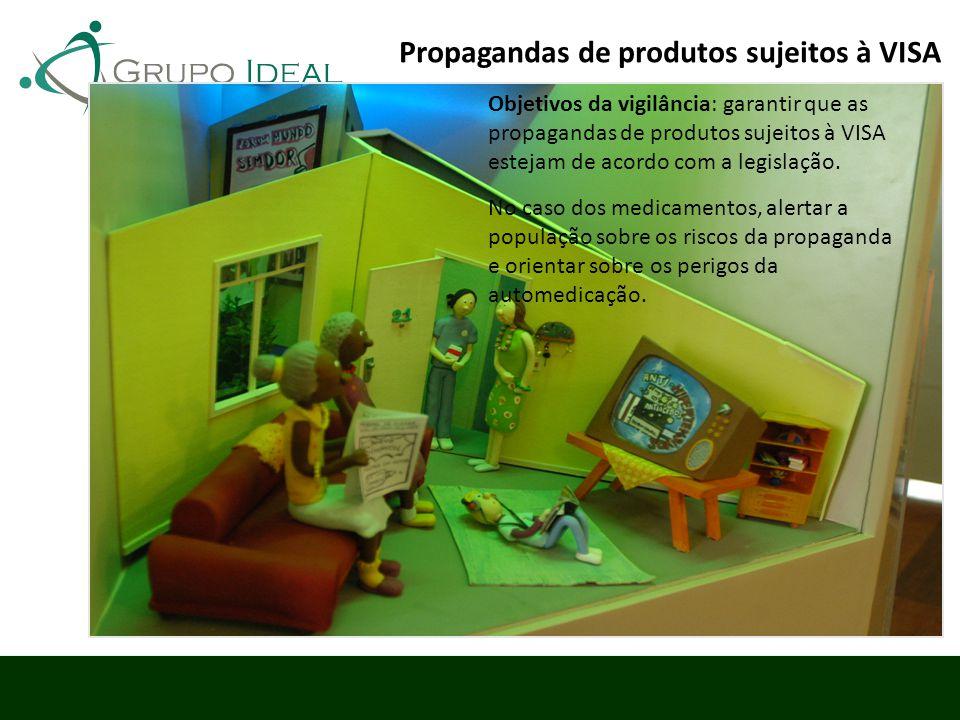 Objetivos da vigilância: garantir que as propagandas de produtos sujeitos à VISA estejam de acordo com a legislação. No caso dos medicamentos, alertar