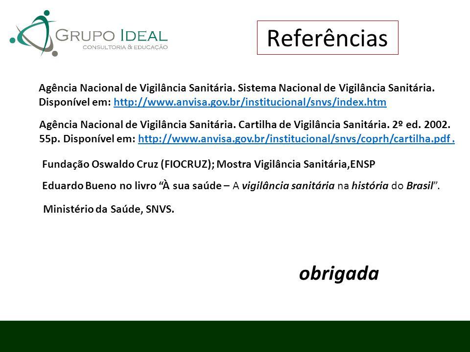 Agência Nacional de Vigilância Sanitária. Sistema Nacional de Vigilância Sanitária. Disponível em: http://www.anvisa.gov.br/institucional/snvs/index.h
