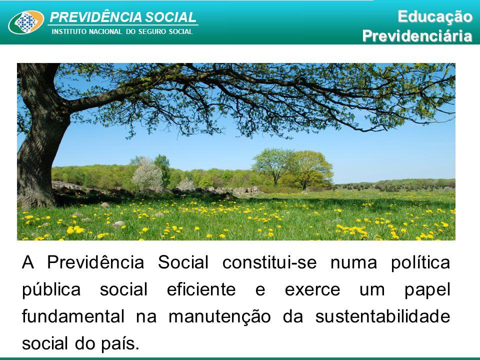 Educação Previdenciária PREVIDÊNCIA SOCIAL INSTITUTO NACIONAL DO SEGURO SOCIAL EducaçãoPrevidenciária IMPORTÂNCIA DA PREVIDÊNCIA SOCIAL Social: Proteção e dignidade, com redução da pobreza.