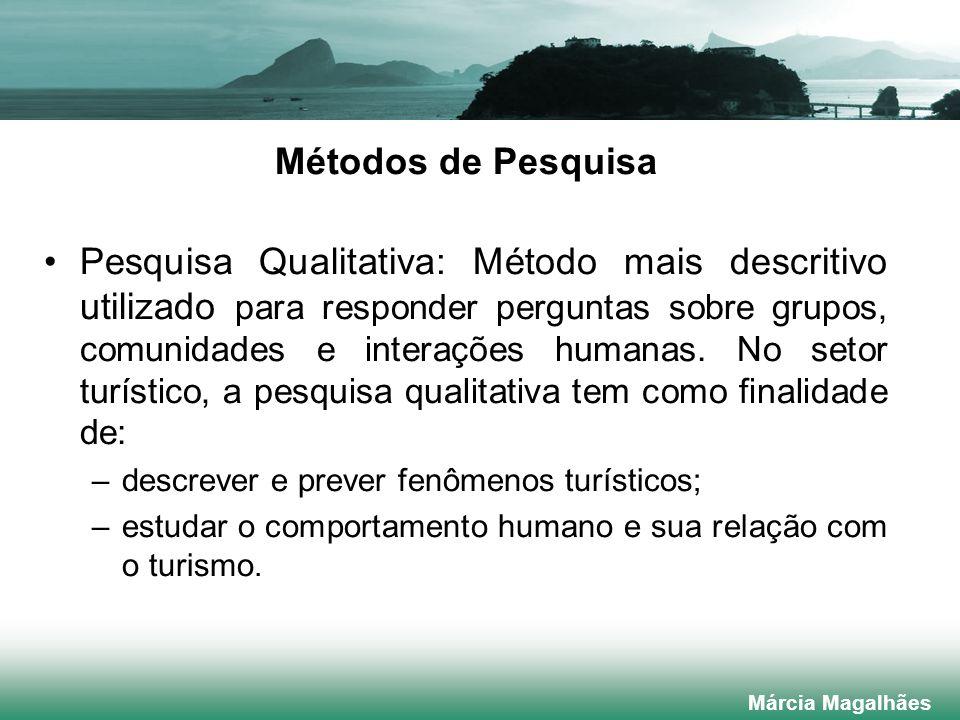 Métodos de Pesquisa Pesquisa Qualitativa: Método mais descritivo utilizado para responder perguntas sobre grupos, comunidades e interações humanas.