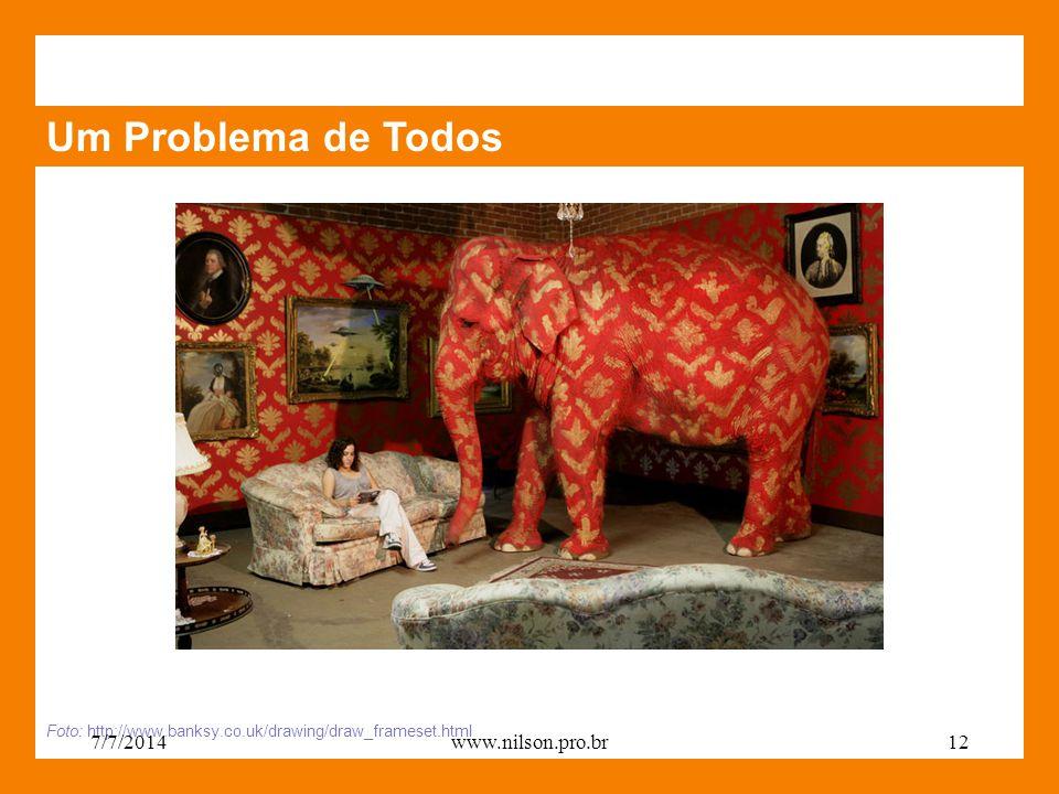 Um Problema de Todos Foto: http://www.banksy.co.uk/drawing/draw_frameset.html 7/7/201412www.nilson.pro.br