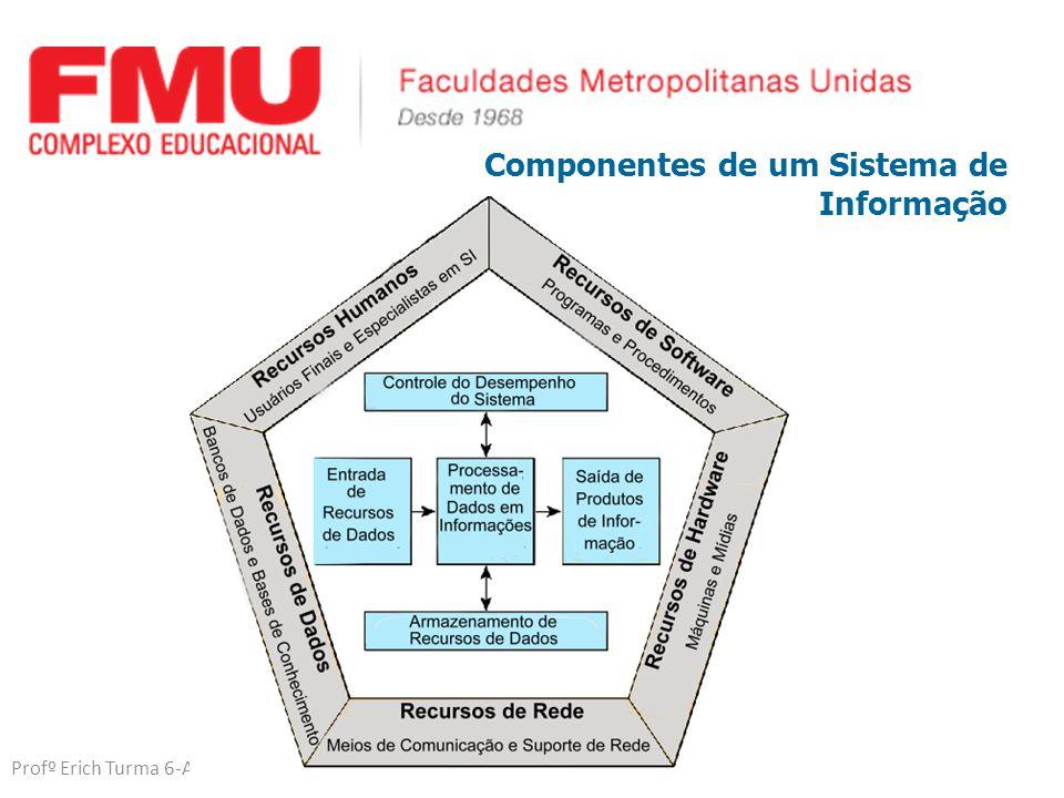 Profº Erich Turma 6-A Noturno Componentes de um Sistema de Informação