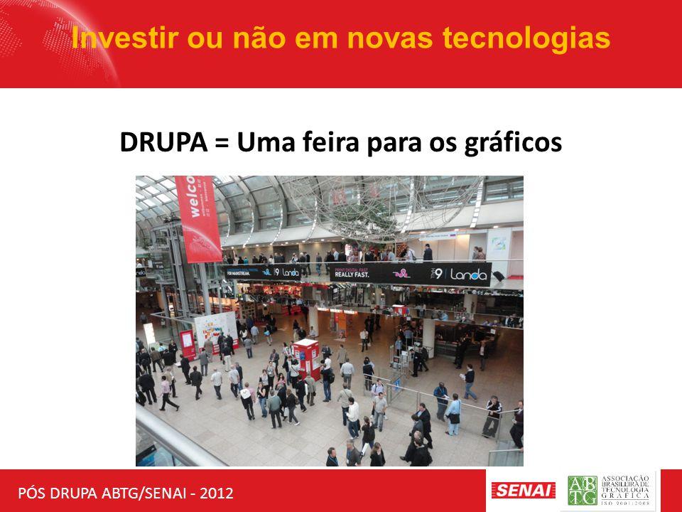 PÓS DRUPA ABTG/SENAI - 2012 Investir ou não em novas tecnologias DRUPA = Uma feira para os gráficos
