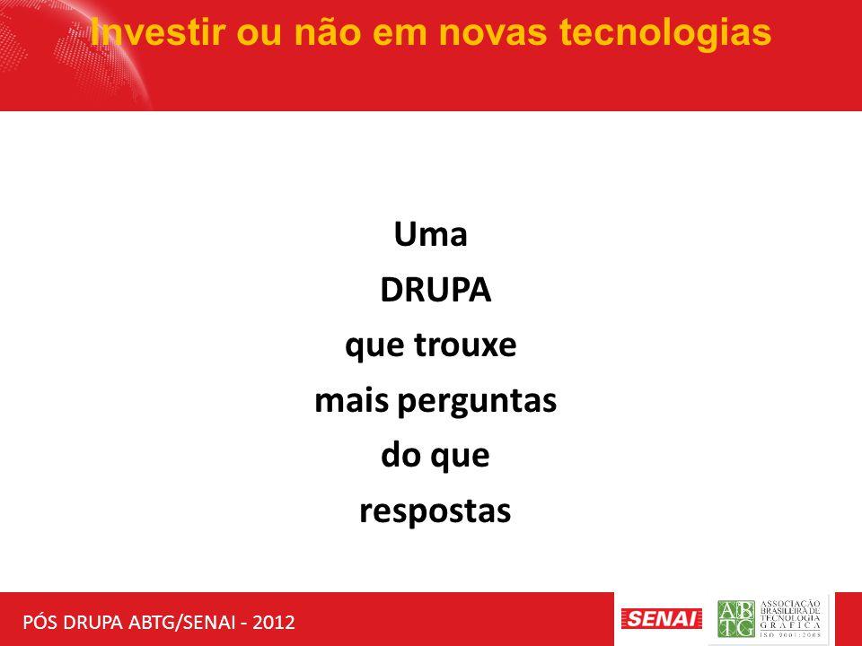 PÓS DRUPA ABTG/SENAI - 2012 Investir ou não em novas tecnologias Uma DRUPA que trouxe mais perguntas do que respostas