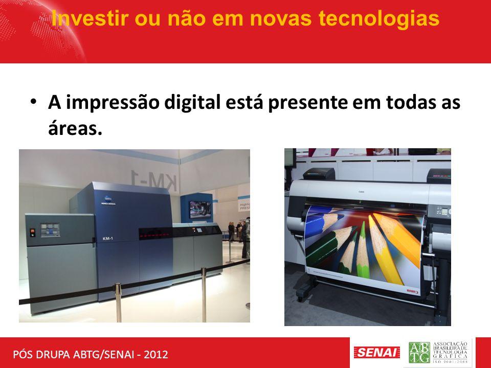 PÓS DRUPA ABTG/SENAI - 2012 Investir ou não em novas tecnologias A impressão digital está presente em todas as áreas.