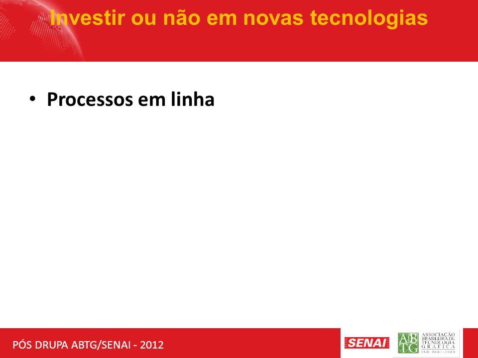 PÓS DRUPA ABTG/SENAI - 2012 Investir ou não em novas tecnologias Processos em linha