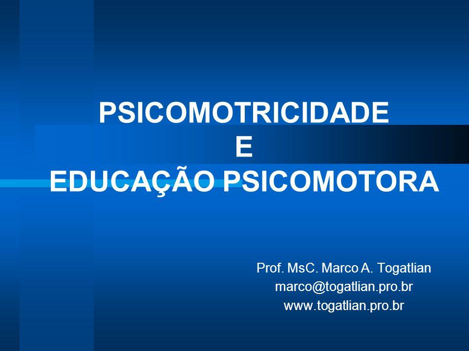 PSICOMOTRICIDADE E EDUCAÇÃO PSICOMOTORA Prof. MsC. Marco A. Togatlian marco@togatlian.pro.br www.togatlian.pro.br