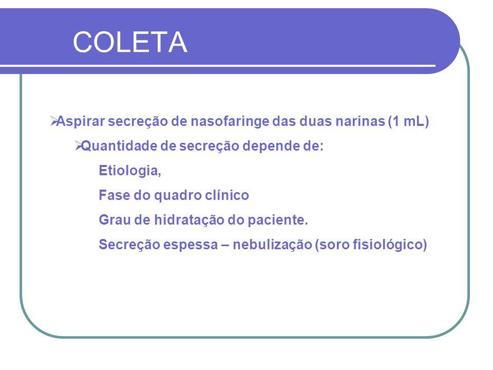 Diagnostico Laboratorial do Influenza A (H1N1) Etapas: Paramentação Coleta/armazenamento Transporte para LACEN Transporte para FIOCRUZ Resultados/Laudos