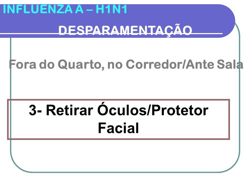 INFLUENZA A – H1N1 DESPARAMENTAÇÃO 2- Retirar e Descartar o Avental Enf.