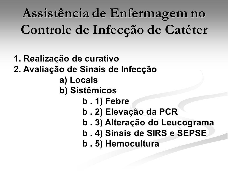 Assistência de Enfermagem no Controle de Infecção de Catéter 1.