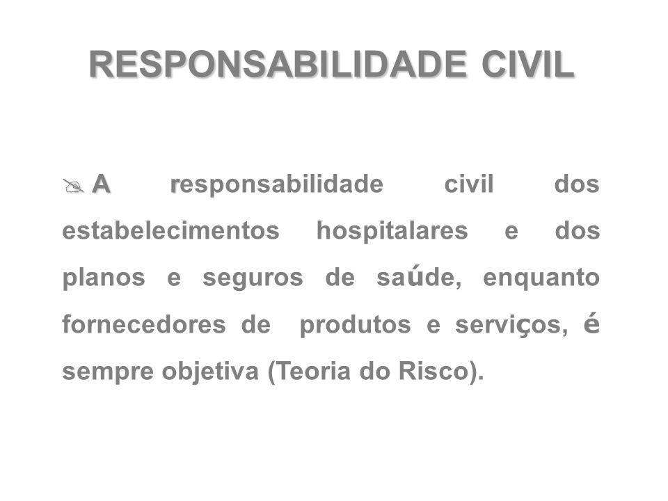 RESPONSABILIDADE CIVIL  A r  A responsabilidade civil dos estabelecimentos hospitalares e dos planos e seguros de sa ú de, enquanto fornecedores de