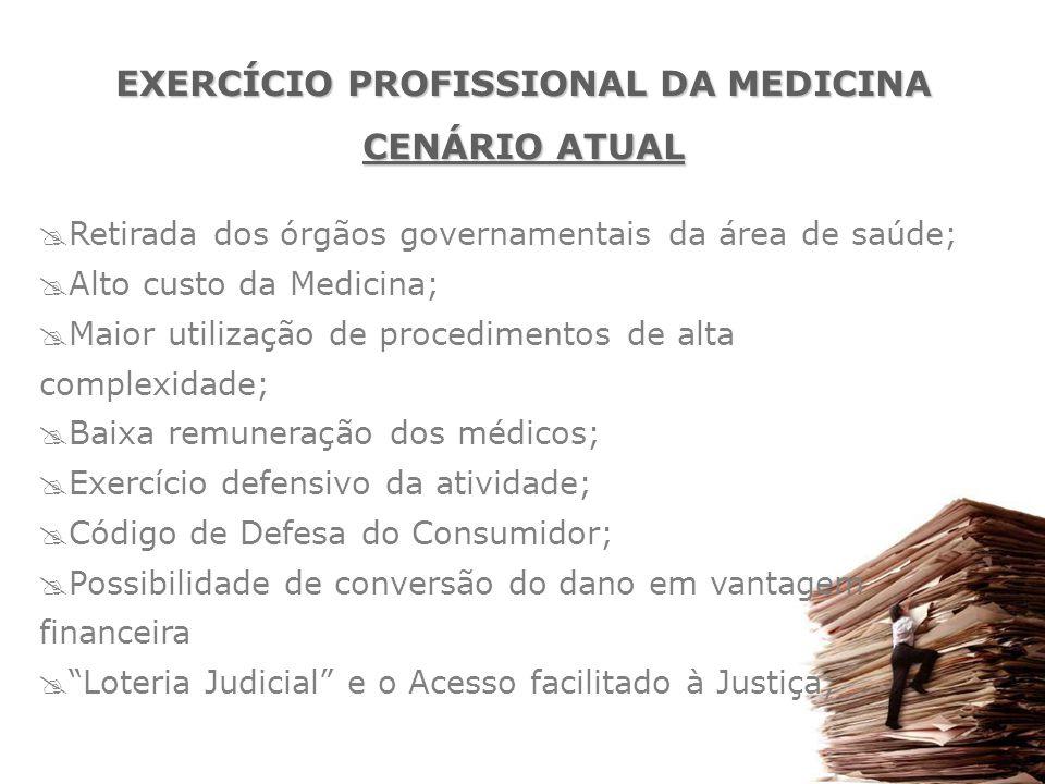  Retirada dos órgãos governamentais da área de saúde;  Alto custo da Medicina;  Maior utilização de procedimentos de alta complexidade;  Baixa rem