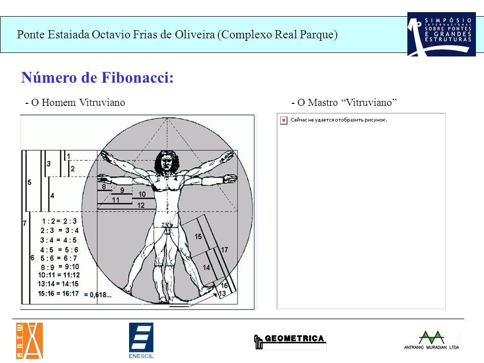 Ponte Estaiada Octavio Frias de Oliveira (Complexo Real Parque) Número de Fibonacci: - O Homem Vitruviano- O Mastro Vitruviano