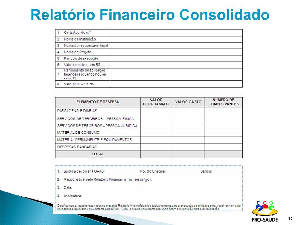 15 Relatório Financeiro Consolidado
