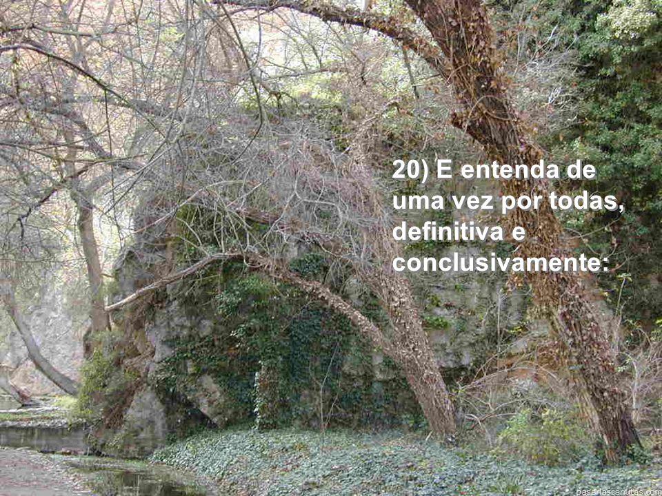 19) Não abandone suas 3 grandes e inabaláveis amigas: a intuição, a inocência e a fé!