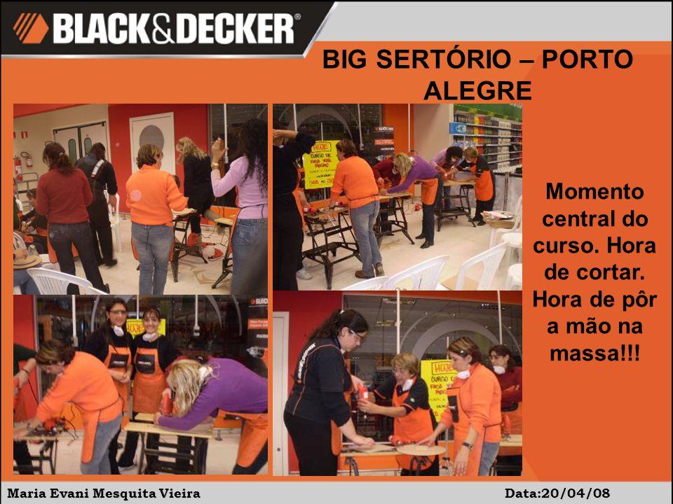 Maria Evani Mesquita Vieira Data:20/04/08 BIG SERTÓRIO – PORTO ALEGRE Momento central do curso.
