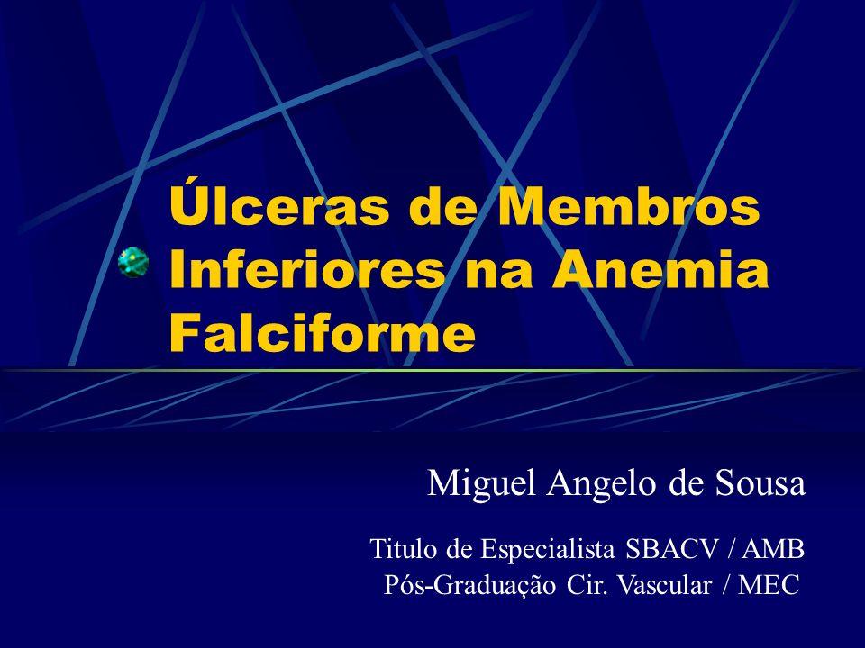 Introdução A úlcera nos membros inferiores, é um tipo de complicação em pacientes portadores de células falciformes geradora de hemoglobina S (HBS) A morbidade e mortalidade é diretamemente proporcional quando ocorre a úlceração nos membros inferiores