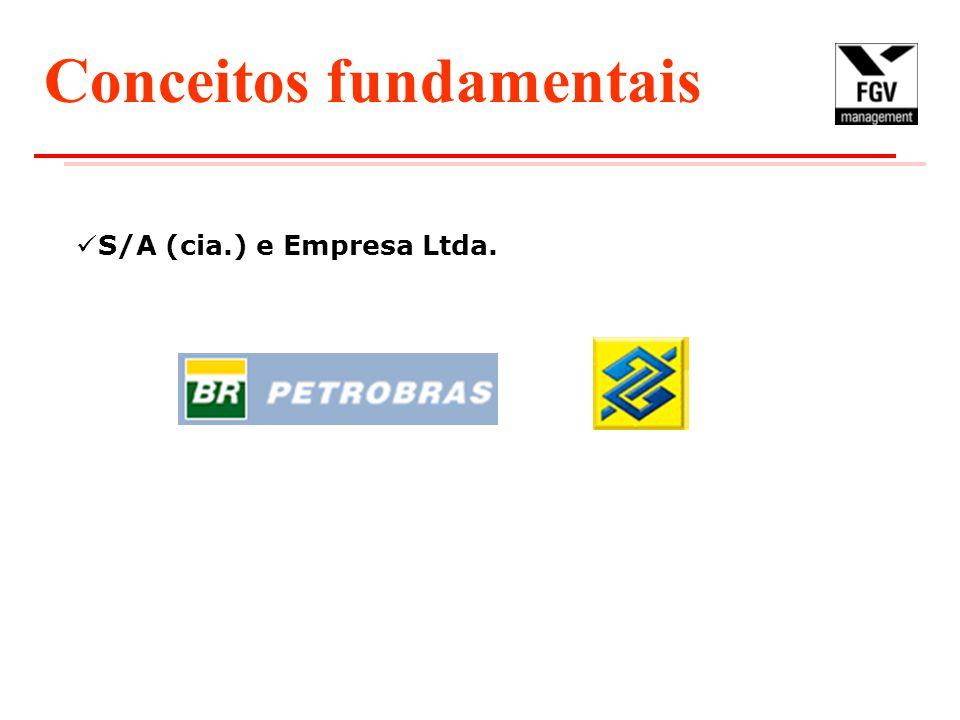 S/A (cia.) e Empresa Ltda. Conceitos fundamentais