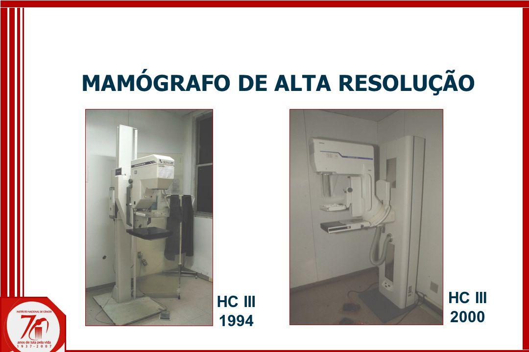 MAMÓGRAFO DE ALTA RESOLUÇÃO HC III 1994 HC III 2000