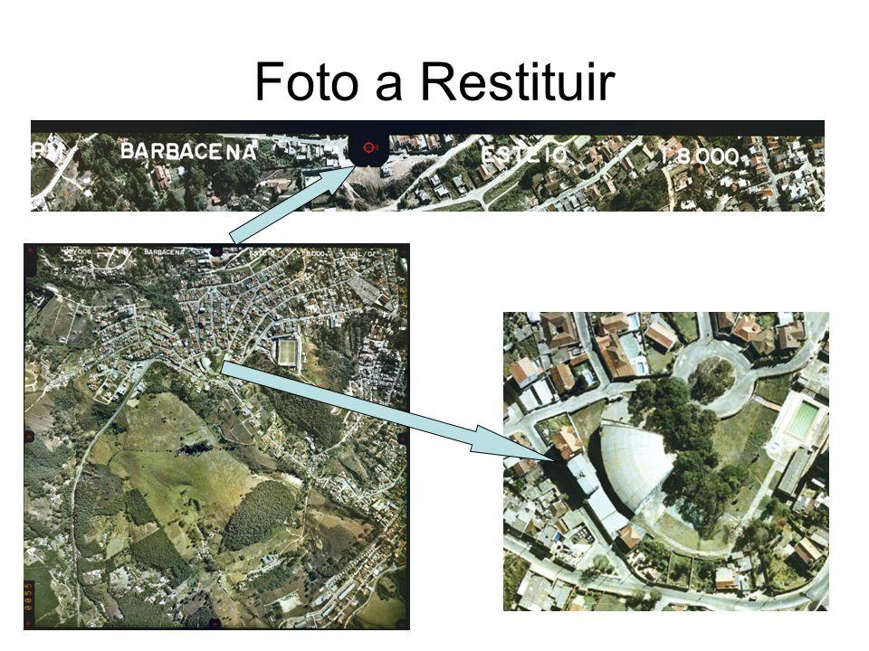 Trabalho 02 Restituição de uma foto e uma imagem sendo: Feições a Restituir Foto urbana – tipo solo, tipos de vegetação, ruas e estradas, rios, quadras, escolher uma quadras e restituir todas as edificações – mínimo de 30 edificações.