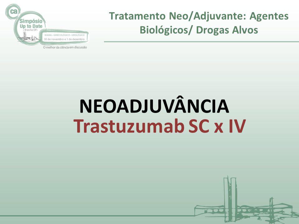 NEOADJUVÂNCIA Trastuzumab SC x IV Tratamento Neo/Adjuvante: Agentes Biológicos/ Drogas Alvos