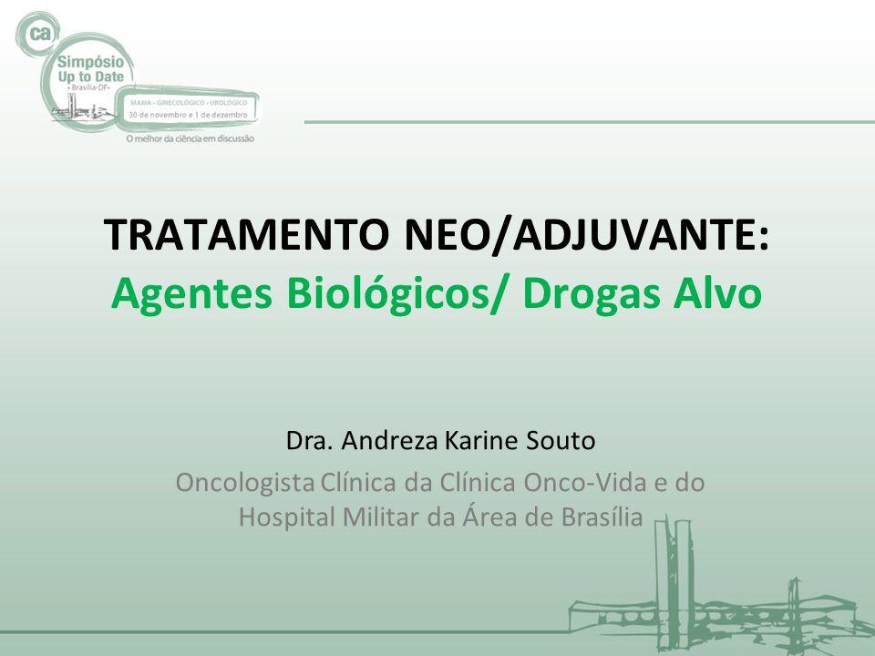 TRATAMENTO NEO/ADJUVANTE: Agentes Biológicos/ Drogas Alvo Dra. Andreza Karine Souto Oncologista Clínica da Clínica Onco-Vida e do Hospital Militar da