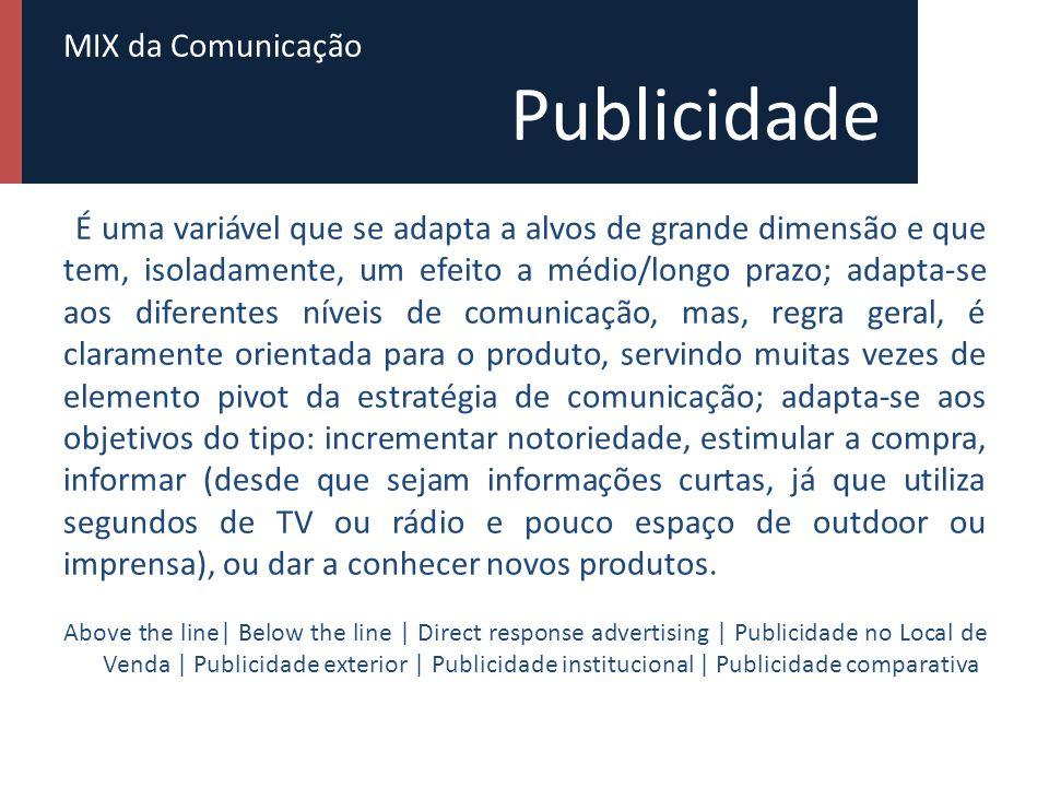 MIX da Comunicação Força de vendas Pode considerar-se a variável de comunicação que permite uma adequação permanente do agente da comunicação ao seu interlocutor, além de possibilitar não só a transmissão de informação, como também, a receção de informação de retorno.