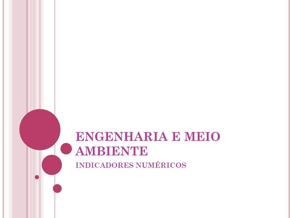 ENGENHARIA E MEIO AMBIENTE INDICADORES NUMÉRICOS