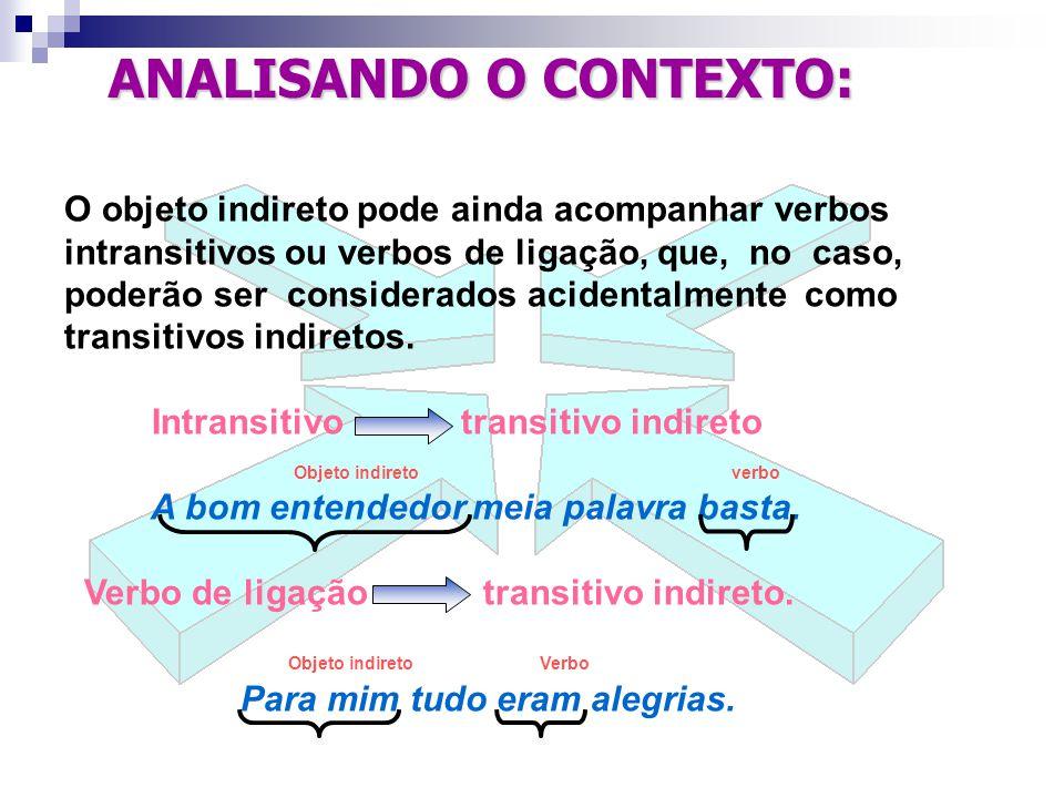OBJETO INDIRETO PLEONÁSTICO Assim como o objeto direto, o objeto indireto pode vir repetido tido ou reforçado, por ênfase.