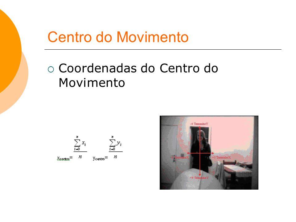 Centro do Movimento  Coordenadas do Centro do Movimento