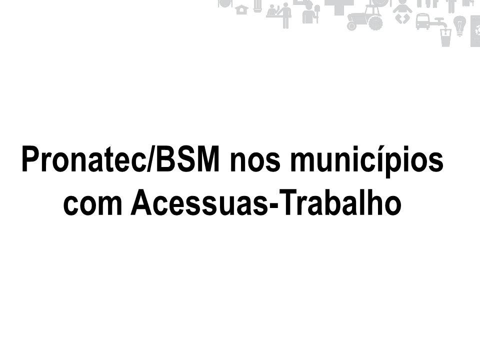 Pronatec/BSM nos municípios com Acessuas-Trabalho