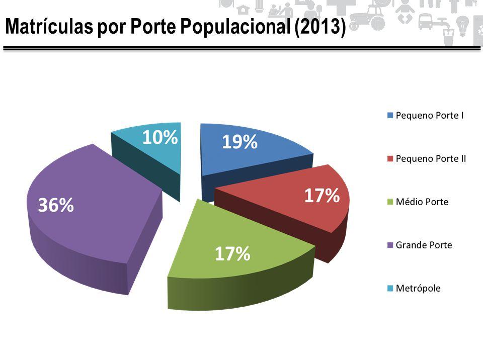 Matrículas por Porte Populacional (2013)