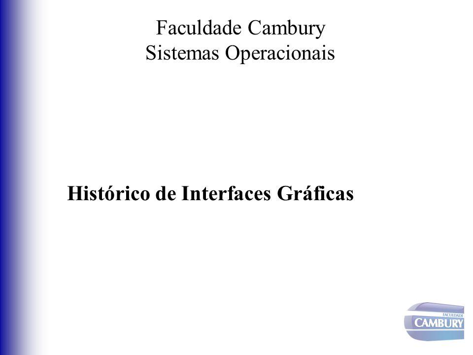 Faculdade Cambury Sistemas Operacionais Histórico de Interfaces Gráficas