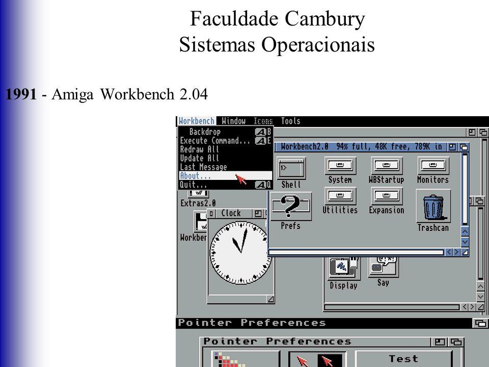 Faculdade Cambury Sistemas Operacionais 1991 - Amiga Workbench 2.04